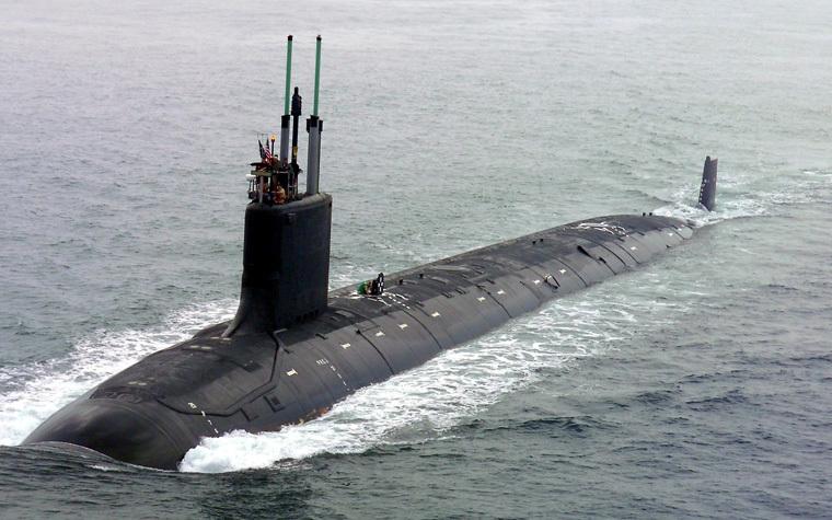 A Virginia-class U.S. Navy attack submarine