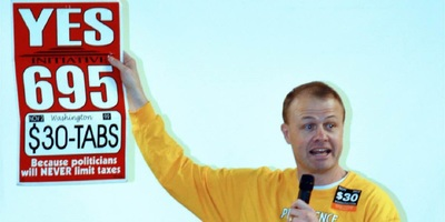 Longtime Washington conservative activist Tim Eyman in a photo posted to his Facebook page earlier today.
