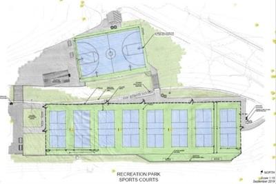 Medium pickleball court design sketch 768x492