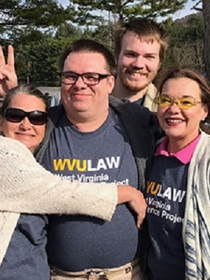 Joseph Lavigne with members of his family, shortly after his release from Huttonsville Correctional Center after serving 20 years in prison.