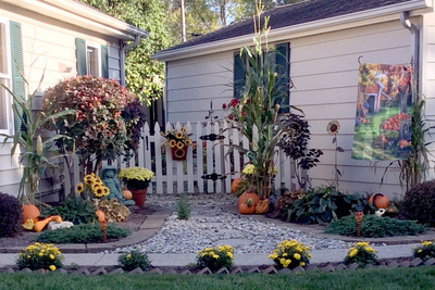 Fall decor is beginning to take shape on the porches and yards around Austin.