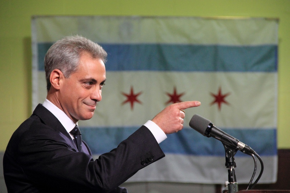 Out-going Chicago Mayor Rahm Emanuel