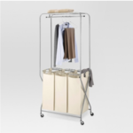 Laundry Station with Triple Sorter Bags