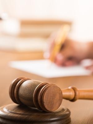 Large judges desk