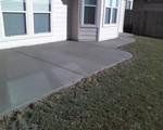 A concrete patio
