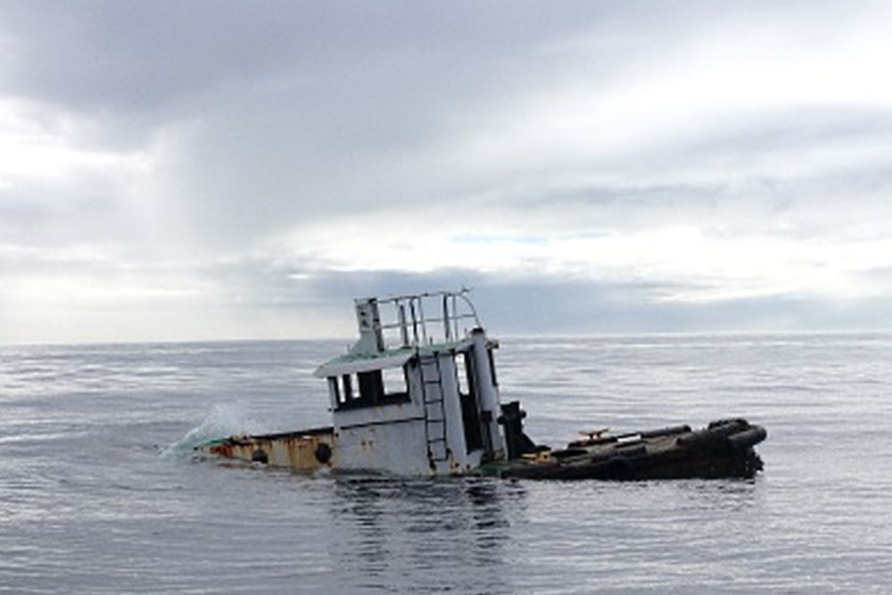 An old tugboat was sunk at the site now known as the CCA-Little River Offshore Reef.