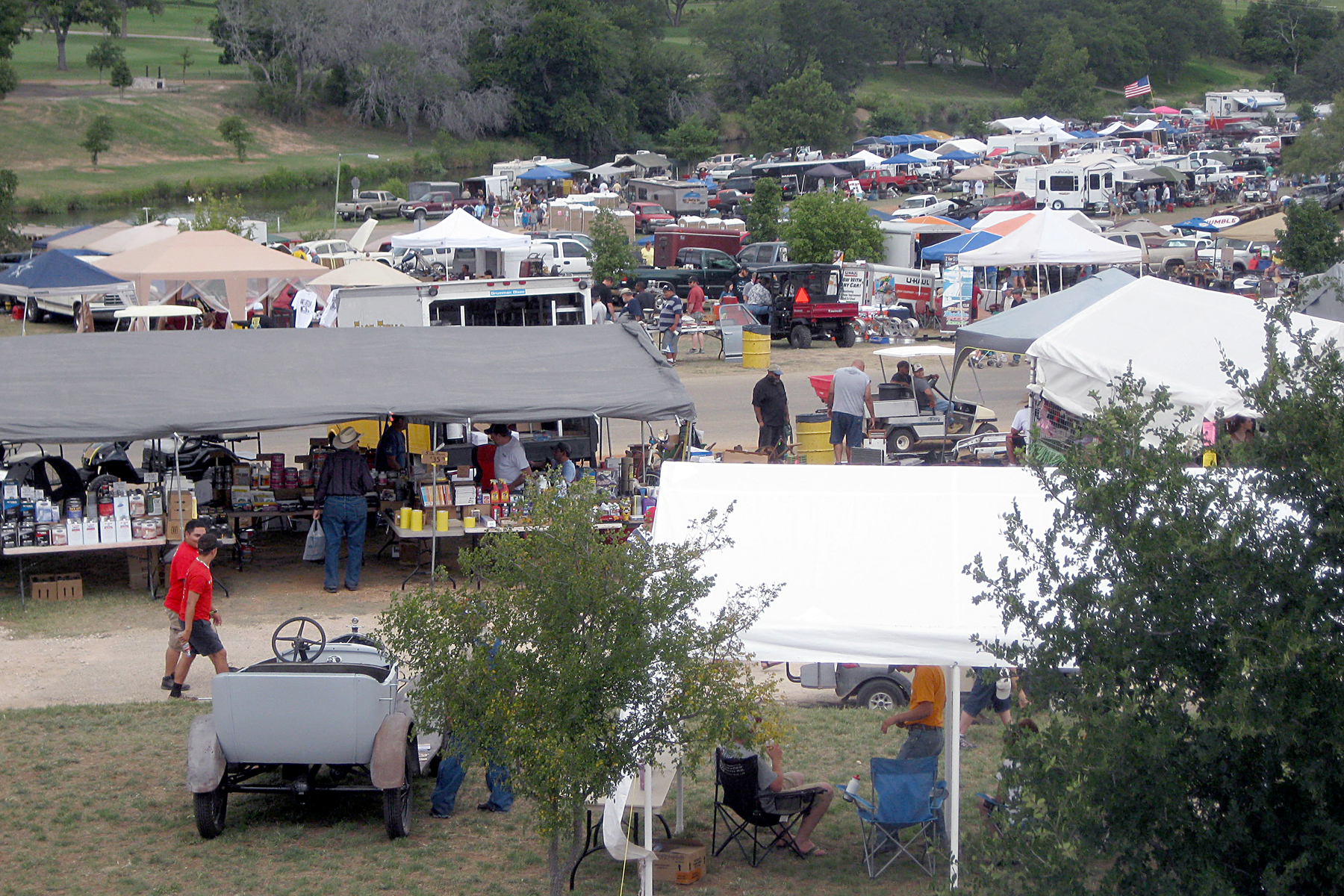 The Fredericksburg Swap Meet features up to 900 vendors at Lady Bird Johnson Park.