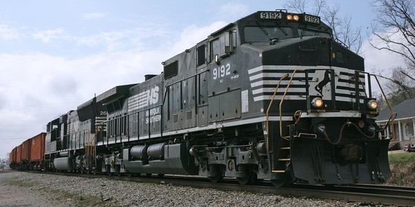Large norfolk southern locomotive