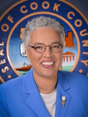Cook County Democratic Party President and Cook County Board of Commissioners President Toni Preckwinkle