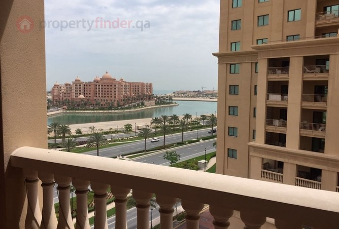 The view from the balcony of the available Porto Arabia two bedroom apartment.