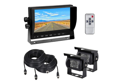 Now there are backup cameras that can be hooked up to trailers and trucks.