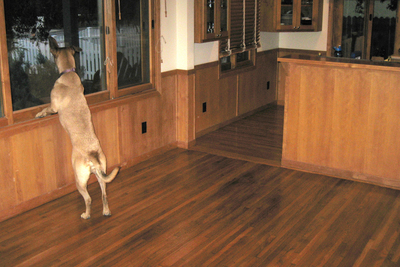 Hardwood floors lend themselves well to a rustic aesthetic in home design.