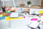 Centralize paperwork in your office to keep things organized.