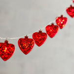 Valentine's Day Red Heart 10' LED Glimmer Strings
