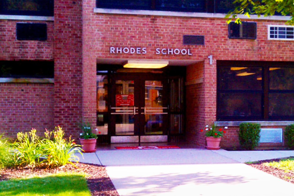 Rhodes Elementary School is governed by Rhodes SD 84-5 (River Grove), which is expected to lose a higher percentage of state funds than any other school district in the western portion of Cook County.