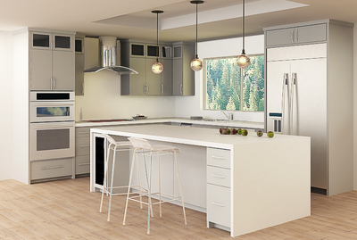 3D design helps homeowners visualize what a room will look like after it's finished.