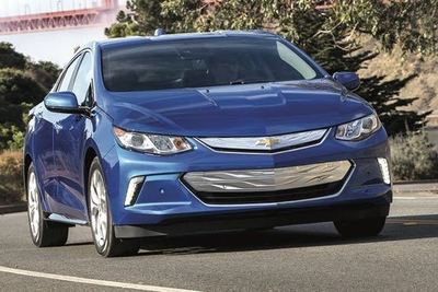 General Motors will push to get more electrified vehicles (Chevrolet Volt pictured) on the road despite falling short of its goals to do so.