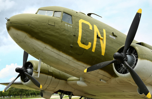 A side attraction of the Georgetown show is the chance to fly in period military aircraft like the C-47.