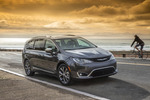 The Pacifica has roughly the same external dimensions and interior room as the Town & Country. As such, Chrysler says the Pacifica holds dozens of sheets of 4x8 building material.