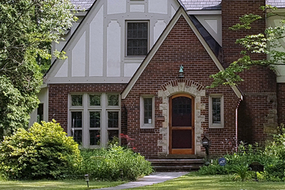 When viewed from the street, the eye is naturally drawn to the front door of a home.