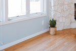 The texture of hardwood flooring lends itself well to a stately and classic appeal in home design.