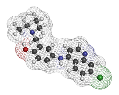 The amodiaquine molecule