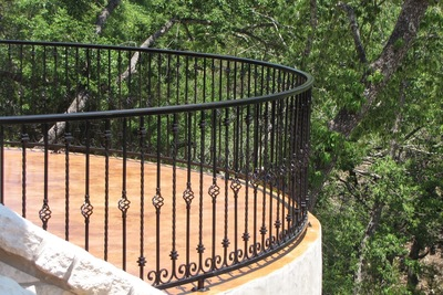 A custom railing designed by Viking Fence in Austin.