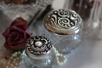 Silver and glass make for a sparkling accent in home decor.
