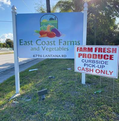 East Coast Farms and Produce is enjoying booming at its curbside business.