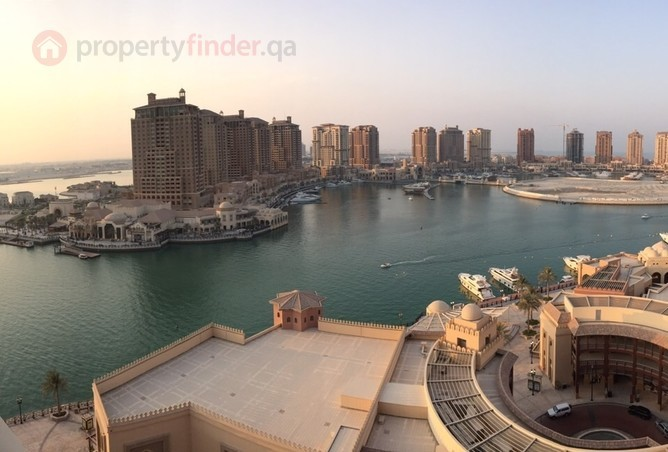 A two bedroom apartment is available in Tower 31 of Porto Arabia at The Pearl.