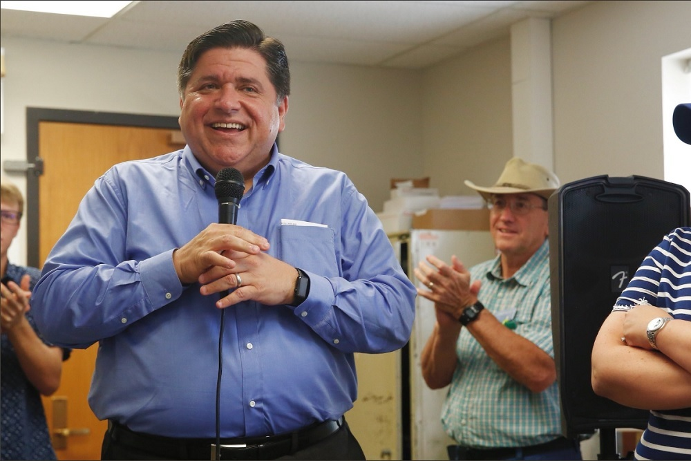 Now Illinois Gov. J.B. Pritzker on the campaign trail in the run-up to his election last November