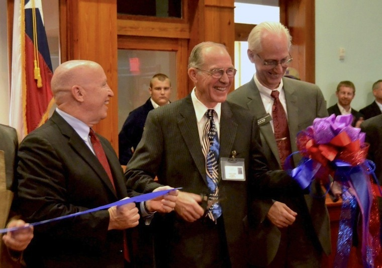 A ribbon-cutting ceremony was held for the newest PSFCU branch.