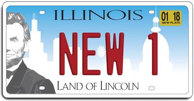 Medium illinois new plate