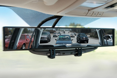 Being able to easily see into blind spots makes for a safer ride.