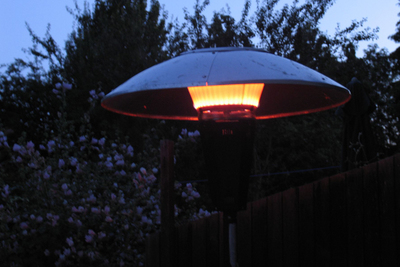 Patio heaters can come in handy for outdoor living in colder months.