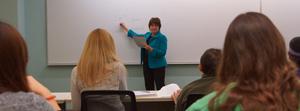 A classroom at Benedictine University's National Moser Center.