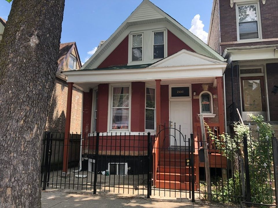 The house located at 2441 S. Saint Louis Ave in Little Village, currently offered for $134.9K, had a 2016 property tax bill of $2,388.