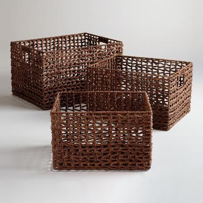 These seagrass baskets have an eyecatching open