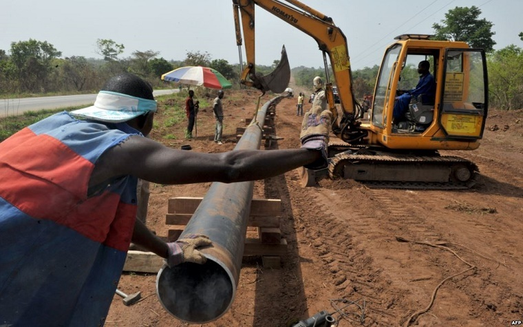 An Ivory Coast energy pipeline