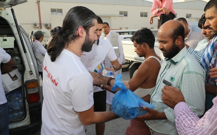Vodafone Qatar employees are helping to deliver meals to worker camps in the Industrial City.