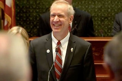 Outgoing Republican Illinois Gov. Bruce Rauner