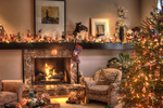 Holiday decorating can be as extravagant or simple as a homeowner wants.
