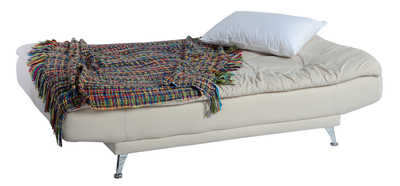 Futons that fold down into beds serve multiple purposes.