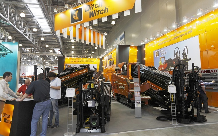 Ditch Witch expo booth