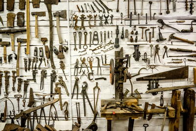 A tool shed can be the ultimate man cave, or nightmare if it gets messy.