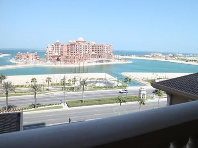 The sea view from an available two bedroom apartment at The Pearl