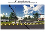 This artist's rendering shows a view of the 2nd Avenue Overpass from the Coleman Coliseum parking lot looking south.