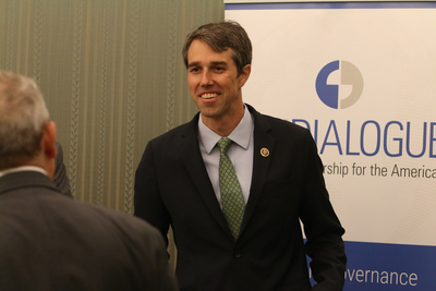 Beto O'Rourke at the Inter-American Dialogue conference in 2016