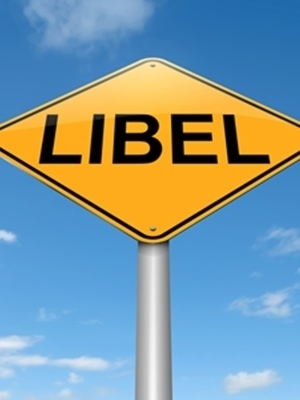 Large libel sign