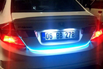 LED trunk strip lighting can actually be used to communicate more clearly on the road.